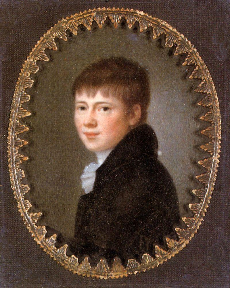 """(C) """"Heinrich von Kleist (Miniature, Peter Friedel, 1801)"""" von Peter Friedel - http://www.zeno.org/Literatur/I/kleihpor. Lizenziert unter Gemeinfrei über Wikimedia Commons - http://commons.wikimedia.org/wiki/File:Heinrich_von_Kleist_(Miniature,_Peter_Friedel,_1801).jpg#/media/File:Heinrich_von_Kleist_(Miniature,_Peter_Friedel,_1801).jpg"""